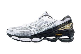 Mizuno Women's Wave Creation 19 Nova Running Shoe (Silver/Black/Gold, Size 8 US)