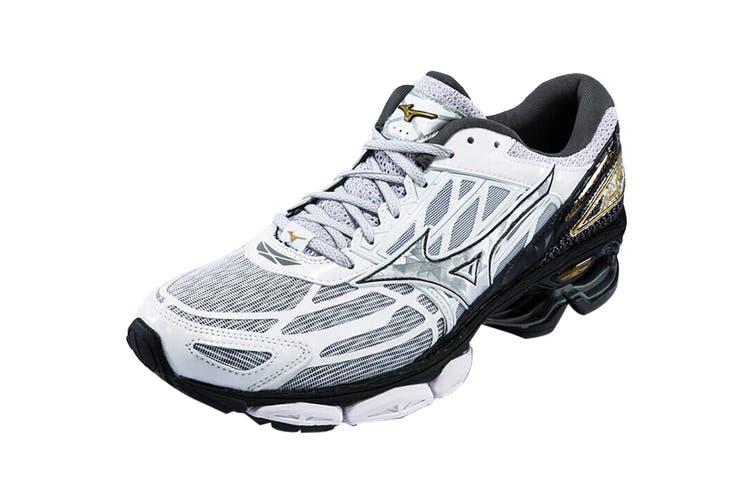 Mizuno Women's Wave Creation 19 Nova Running Shoe (Silver/Black/Gold, Size 9 US)