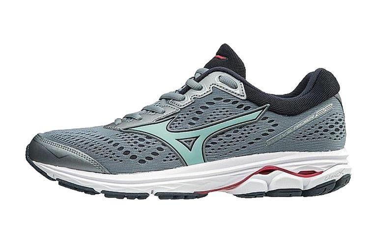 Mizuno Women's WAVE RIDER 22 Running Shoe (Tradewinds/Teaberry, Size 6.5 US)