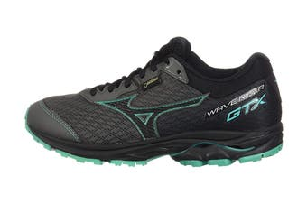 Mizuno Women's Wave Rider GTX Running Shoe (Gunmetal/Black/Billard, Size 6.5 US)