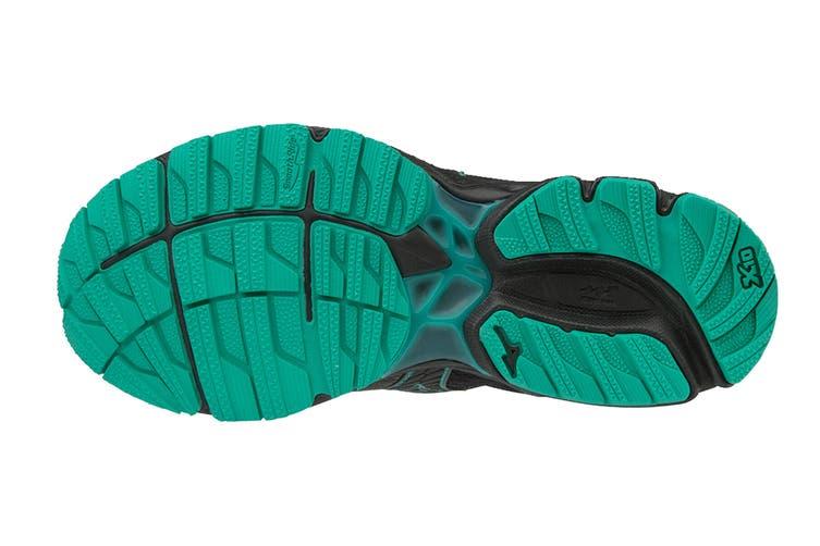 Mizuno Women's WAVE RIDER 22 GTX Running Shoe (Gunmetal/Black/Billard, Size 10.5 US)