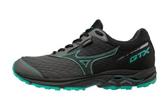 Mizuno Women's WAVE RIDER 22 GTX Running Shoe (Gunmetal/Black/Billard)