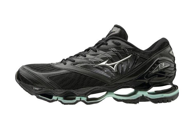 Mizuno Women's Prophecy 8 Running Shoe (Black/Silver, Size 9.5 US)
