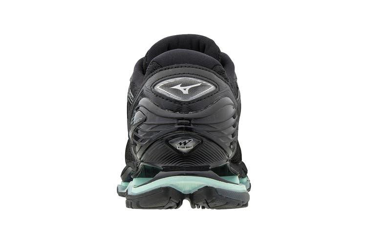 Mizuno Women's Prophecy 8 Running Shoe (Black/Silver, Size 9 US)