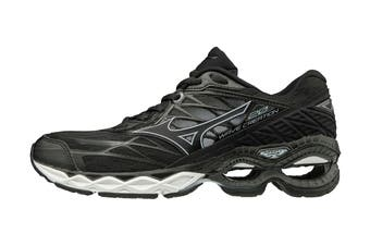 Mizuno Women's Wave Creation 20 Running Shoe (Black/Black/Ilosion Blue, Size 6.5 US)