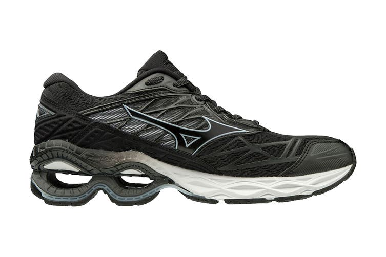 Mizuno Women's Wave Creation 20 Running Shoe (Black/Black/Ilosion Blue, Size 7.5 US)