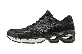 Mizuno Women's Wave Creation 20 Running Shoe (Black/Black/Ilosion Blue, Size 7 US)