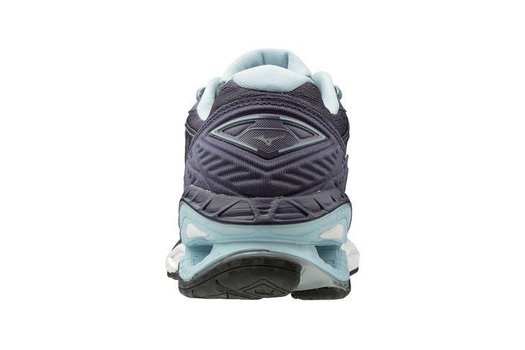 Mizuno Women's Wave Creation 20 Running Shoe (Grey Light/Blue, Size 9 US)