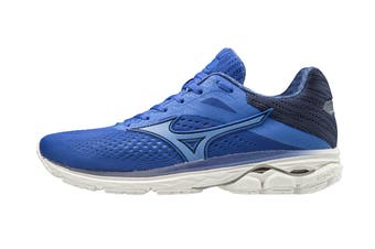 Mizuno Women's Wave Rider 23 Running Shoe (Dazzling Blue/Ultramarine/Medieval Blue, Size 4.5 UK)