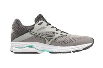 Mizuno Women's Wave Rider 23 Running Shoe (Silver Sconce/Vapor Blue/Ice Green, Size 4 UK)