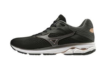 Mizuno Women's Wave Rider 23 Running Shoe (Black/Dark Shadow/Champagne, Size 5 UK)
