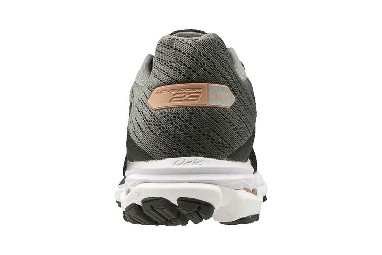 Mizuno Women's Wave Rider 23 Running Shoe (Black/Dark Shadow/Champagne, Size 5 UK)