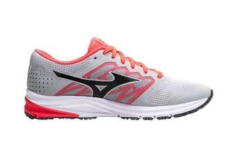 Mizuno Women's SYNCHRO MD 2 Running Shoe (Grey/Red, Size 9.5 US)