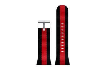 Moochies Fabric Watch Strap (Black/Red)