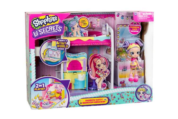Shopkins Shoppies Lil' Secrets Bedroom Hide Away Playset S1