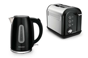 Morphy Richards Equip Toaster & Kettle Pack - Black (102776-222013)