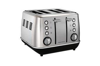Morphy Richards Evoke 4 Slice Toaster - Brushed Stainless Steel (240106)