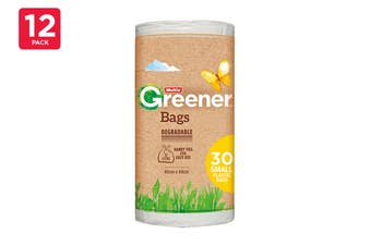 Multix Tidy Bags Small Greener Degradable With Ties 45cm X 44cm 12 Litre (12 x 30 Pack)