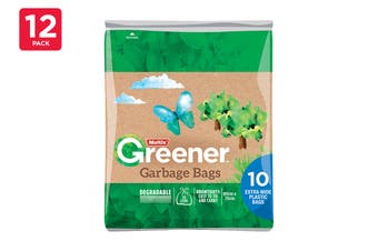 Multix Greener Garbage Bags Extra Wide Degradable 56L 80cm X 70cm (12 x 10 Pack)