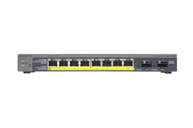 Netgear GS110TP 8-Port POE Gigabit Switch (GS110TP-200AJS)