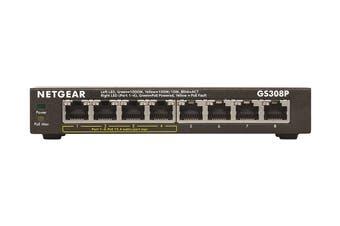 Netgear GS308P Soho 8-Port Gigabit Unmanaged Switch with 4-Port PoE (GS308P-100AUS)