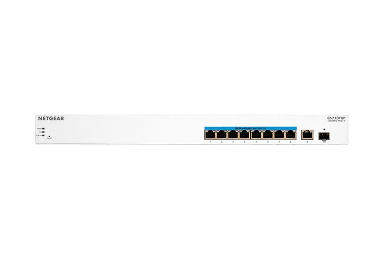 Netgear 10-Port Ultra60 PoE++ Gigabit Smart Managed Pro Rackmount Switch with 8 x PoE++, 2 x 1G Uplink (GS710TUP-100AJS)