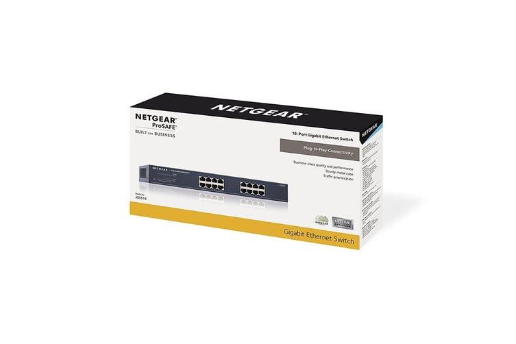 Netgear JGS516 ProSafe 16-Port Gigabit Rackmount Switch (JGS516AU)