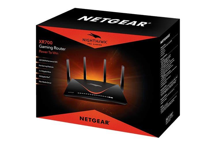 Netgear Nighthawk Pro Gaming WiFi Router AD7200 Dual-Band Quad Stream with Geo Filter, QoS & Gaming VPN (XR700)