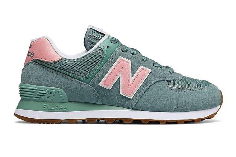 New Balance Women's 574 Shoe (Smoke Blue, Size 7)