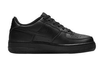 Nike Air Force 1 (GS US) Boys' Shoe (Black/Black/Black, Size 5Y US)