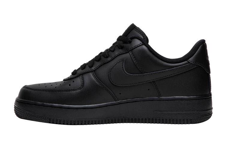 Nike Men's Air Force 1 '07 LE Sneaker (Black/Black, Size 8.5 US)