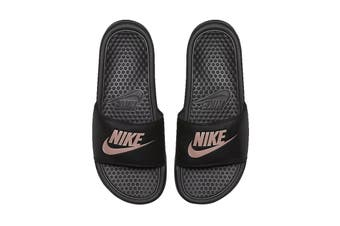 Nike Women's Benassi Jdi Sandals (Black/Rose Gold)