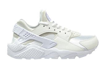 Nike Women's Air Huarache Run Running Shoe (Triple White, Size 10.5 US)