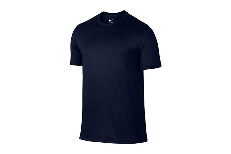 Nike Men's Ledgend 2.0 Dri-Fit Tees (Obsidian/Black/Matte Silver, Size S)