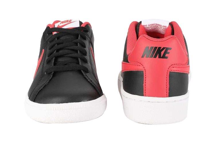 Nike Men's Nike Court Royale Sneaker (Black/Action Red/White, Size 8.5 US)