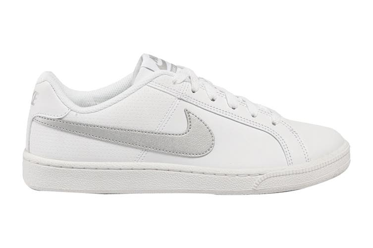 Nike Women's Nike Court Royale Sneaker (White/Metallic Silver, Size 7 US)
