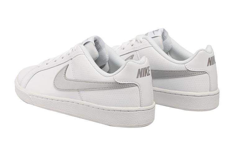 Nike Women's Nike Court Royale Sneaker (White/Metallic Silver, Size 8 US)