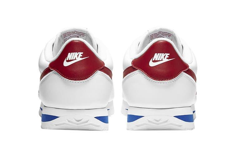 Nike Men's Cortez Basic Leather Shoe (White/Varsity Red/Varsity Royal, Size 13 US)