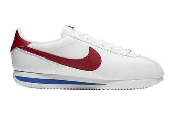 Nike Men's Cortez Basic Leather Shoe (White/Varsity Red/Varsity Royal, Size 14 US)