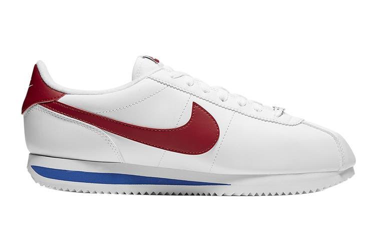 Nike Men's Cortez Basic Leather Shoe (White/Varsity Red/Varsity Royal, Size 14 US)