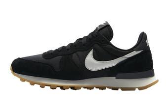 Nike Women's Internationalist Shoe (Black/Summit White/Anthracite/Sail/Gum Light Brown, Size 12 US)