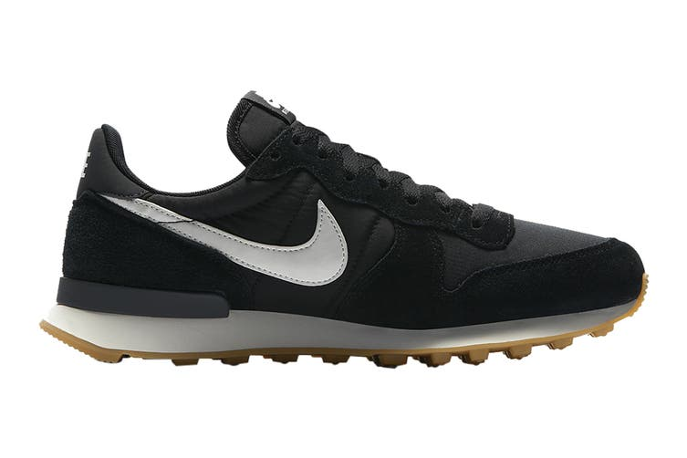 Nike Women's Internationalist Shoe (Black/Summit White/Anthracite/Sail/Gum Light Brown, Size 8 US)