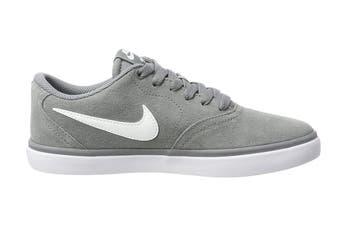 Nike SB Check Solarsoft Men's Skateboarding Shoe (Grey/White, Size 9.5 US)