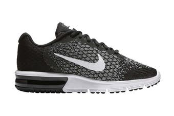 Nike Women's Air Max Sequent 2 Running Shoe (Black/Dark Grey/White)