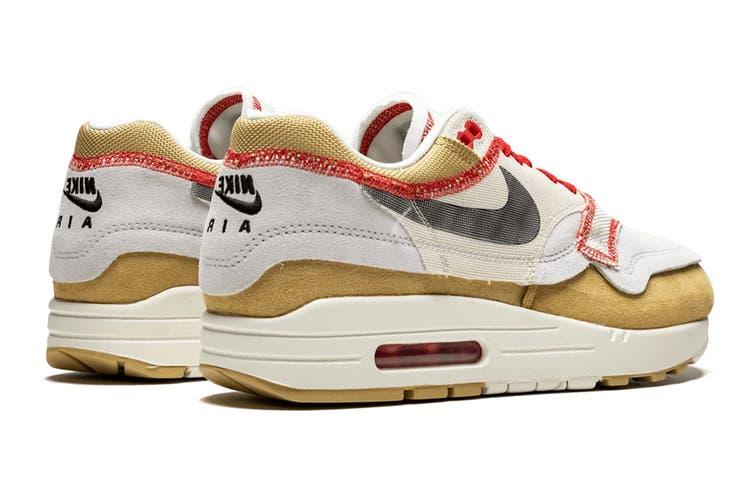 Nike Men's Air Max 1 Sneaker (White, Size 9.5 US)