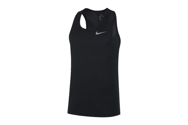 Nike Women's Run Tank (Black, Size L)