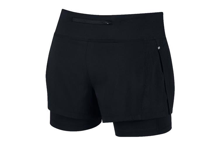 Nike Eclipse 2-in-1 Women's Running Shorts (Black, Size M)