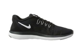 Nike Women's Flex RN 2017 Running Shoe (Black/White, Size 6.5 US)