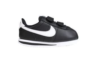 Nike Boys' Cortez Basic SL Shoes (Black/White, Size 2 US)