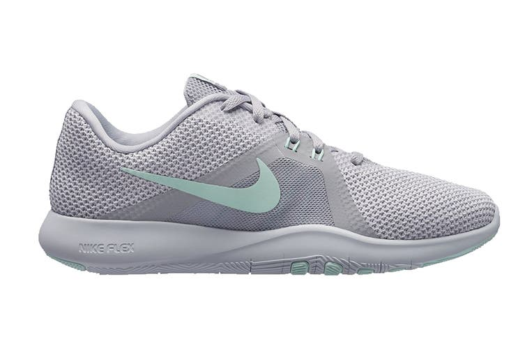 Nike Women's Flex Trainer 8 (Grey/White, Size 9.5 US)